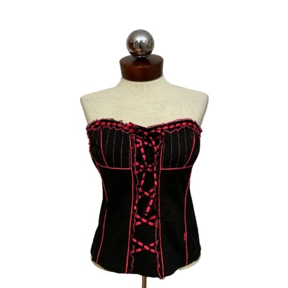 d8194e63f46 TRIPP NYC by Daang Goodman lace up corset top L. M 5c59fdcefe5151e0ae3aeee7